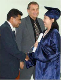 Graduation at Christian Liberty Academy in Suriname
